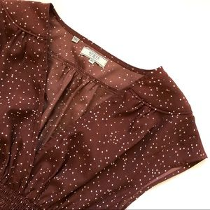 Guess Rust Polka Dot Dress - size XS - EUC